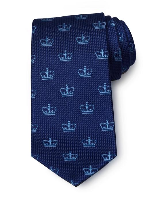 Columbia University All-Over Logo Tie Navy-Blue