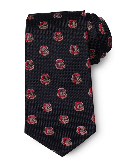 Cornell University All-Over Logo Tie Black-Red
