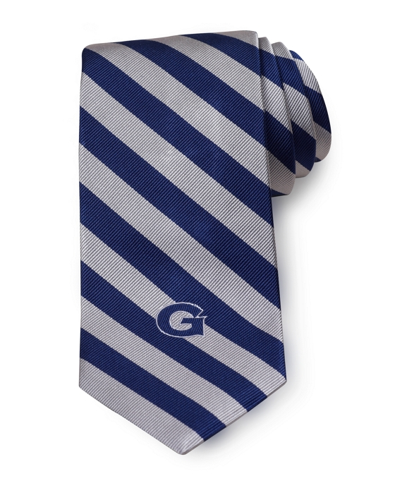 Georgetown University Guard Stripe Tie Navy-Grey