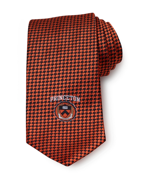 Princeton University Chevron Tie Orange-Black
