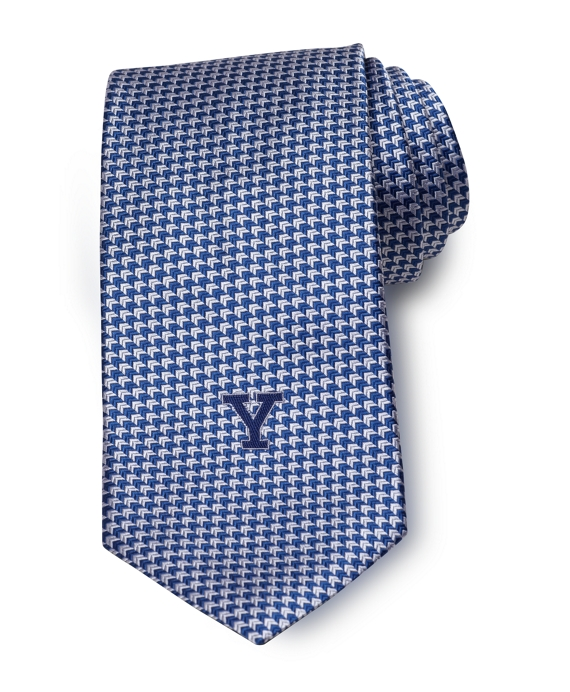 Yale University Chevron Tie Navy-Silver