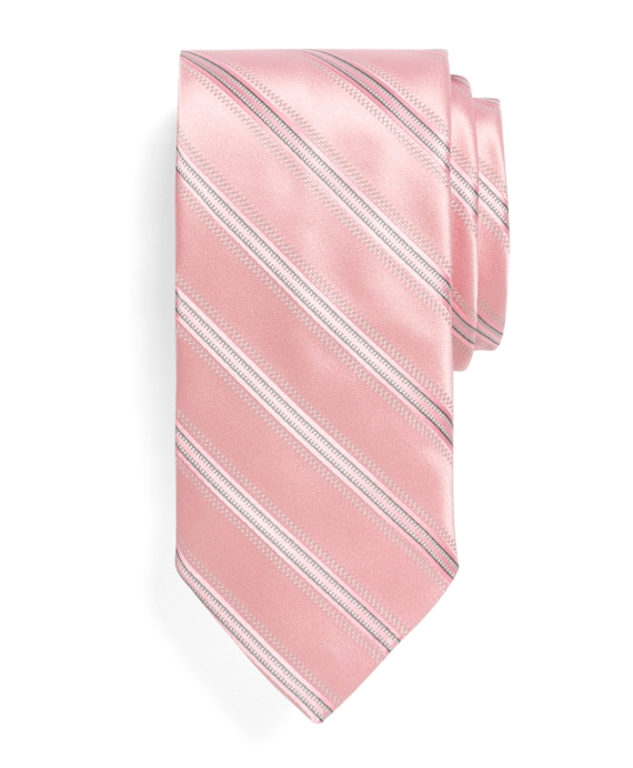 Pic and Pic Track Stripe Tie Pink