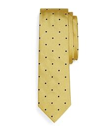 Woven Dot Slim Tie