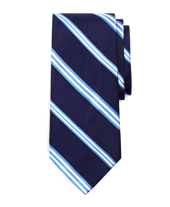 Satin and Twill Alternating BB#1 Tie Navy
