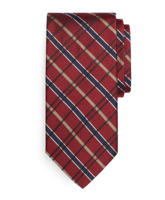 BB#2 Plaid Tie Burgundy