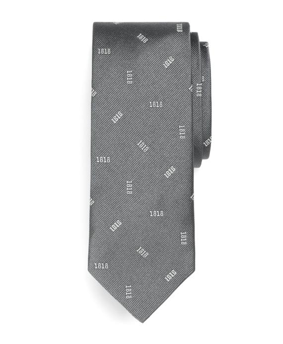 Tossed 1818 Slim Tie Grey