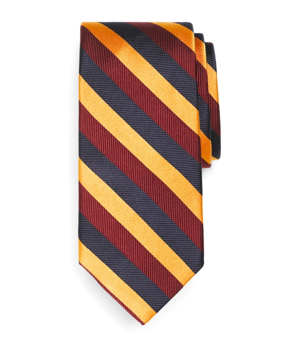 Triple Stripe Tie Gold