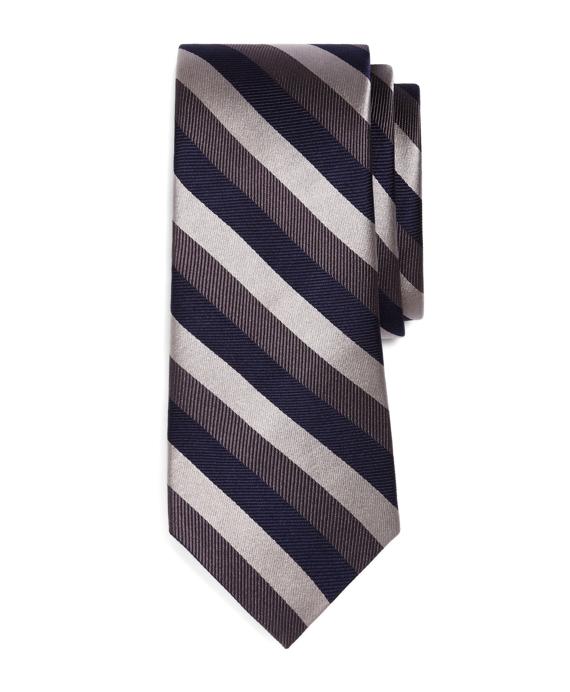 Tonal Stripe Tie Grey