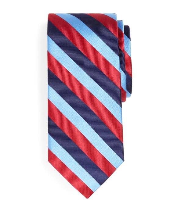 Tonal Stripe Tie Red