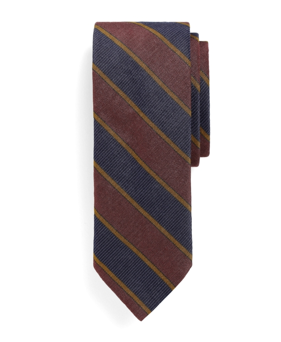 Slim Guard Stripe Tie Burgundy