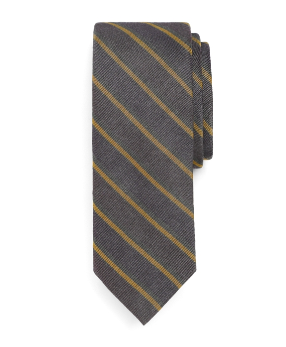 Twin Stripe Slim Tie Purple