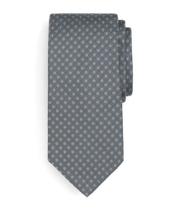 Small Square Tie Grey