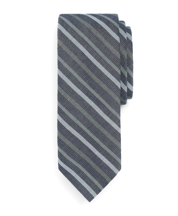 Slim Triple Stripe Tie Navy