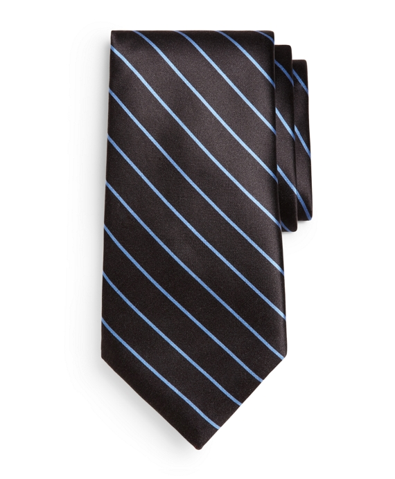 Golden Fleece® Seven-Fold Stripe Print Tie Black