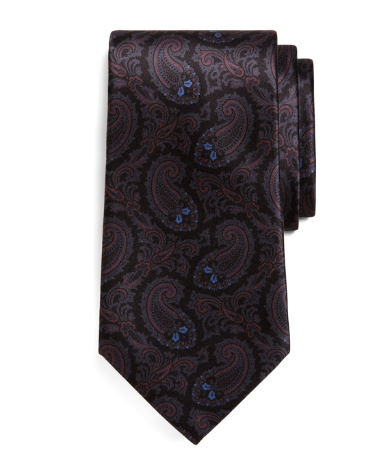 Golden Fleece® Seven-Fold Paisley Print Tie Black