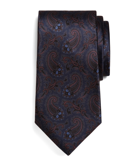 Golden Fleece® Seven-Fold Paisley Print Tie Navy