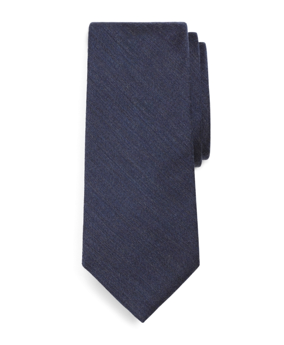 Heathered Solid Tie Navy
