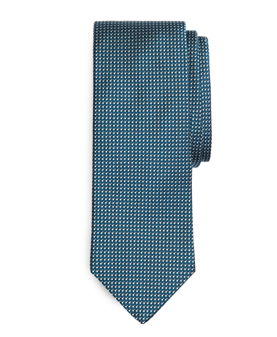 Box in Square Tie Teal
