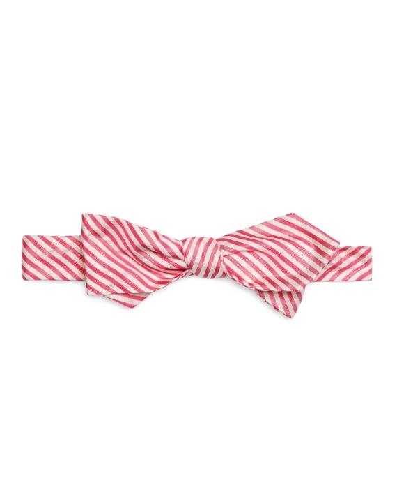 Seersucker Bow Tie Pink