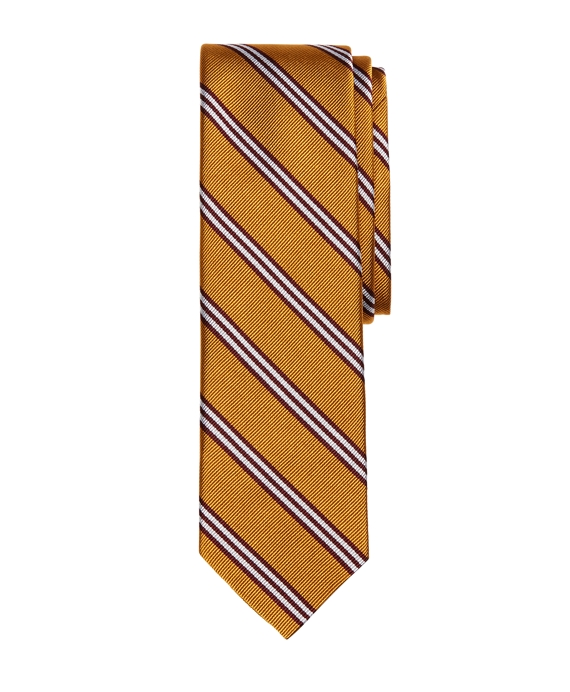 BB#1 Stripe Slim Tie Gold