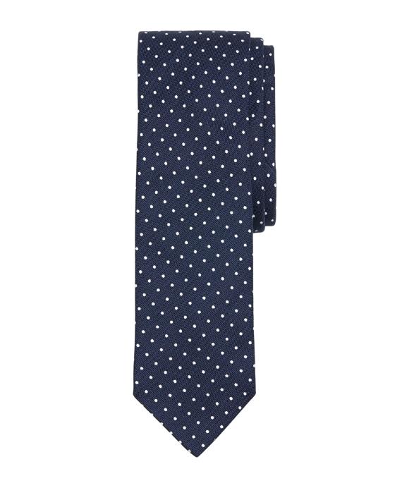 Dot Slim Tie Navy
