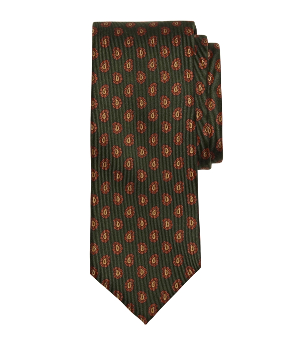 Pine Tree Print Tie Green