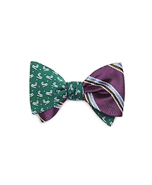 Ice Skate with Double Stripe Reversible Bow Tie