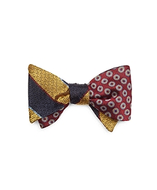 Stripe with Circles Reversible Bow Tie
