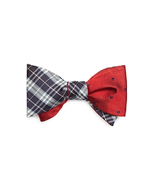 BB#1 Plaid with Dot Reversible Bow Tie