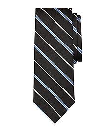Satin Alternating Bar Stripe Tie