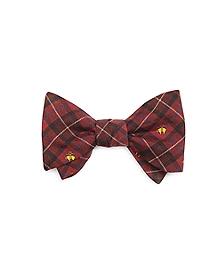 Holiday Plaid Print Bow Tie