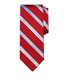 Rope Split Stripe Tie