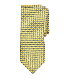 Oval Link Print Tie