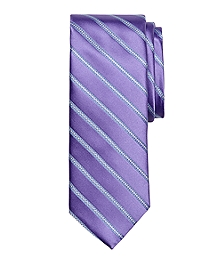 Satin Chain Stripe Tie