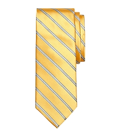 Satin Chain Stripe Tie