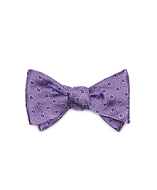 Textured Flower Bow Tie