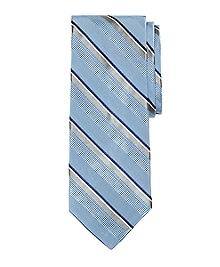 Satin Split Stripe Tie