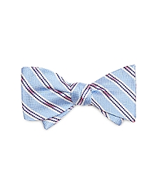 Oxford Stripe Bow Tie