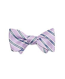 Oxford Stripe Bow Tie