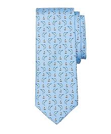 Marlin Print Tie