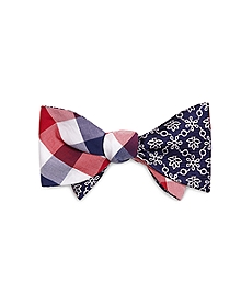 Exploded Tattersall and Alternating Flower Reversible Bow Tie