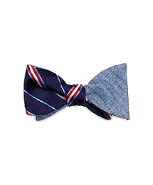 Framed Split Stripe and Anchor Reversible Bow Tie
