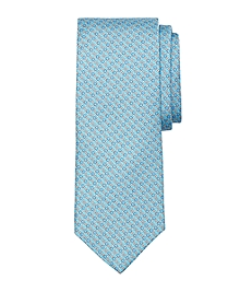 Rope Bit Link Print Tie