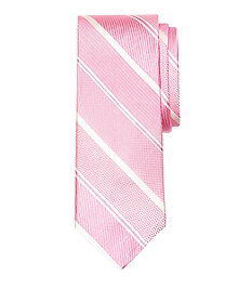 Mixed Weave Alternating Stripe Tie