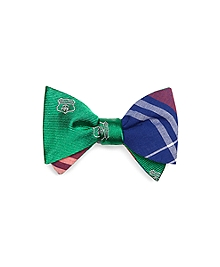 Brooks Brothers Crest and Madras Reversible Bow Tie