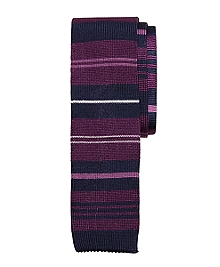 Alternating Stripe Knit Tie