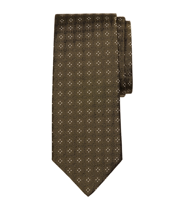 Four-Dot Tie Green