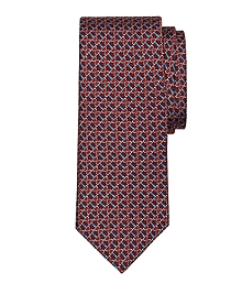 Horsebit Link Print Tie