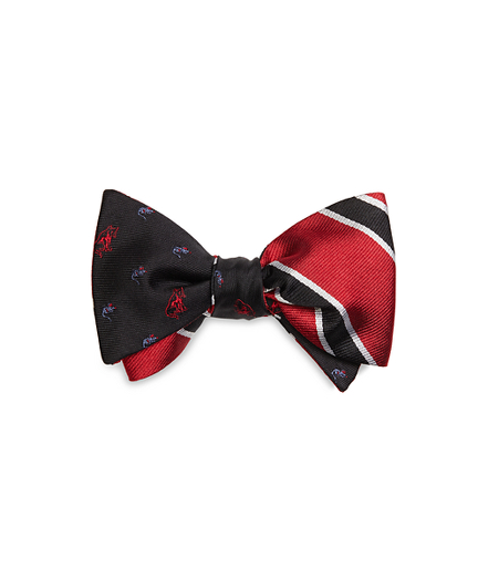 Cat and Mouse with BB#2 Stripe Reversible Bow Tie