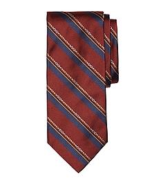 Horsebit Stripe Tie